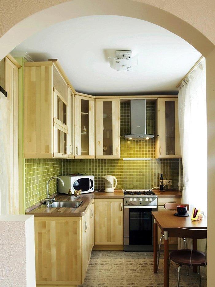 Mẫu không gian bếp đẹp hiện đại nhỏ 03