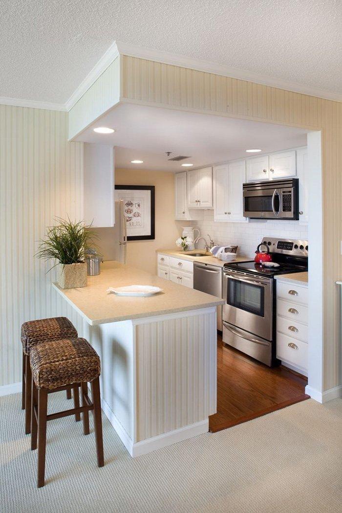 Mẫu không gian bếp đẹp hiện đại nhỏ 05
