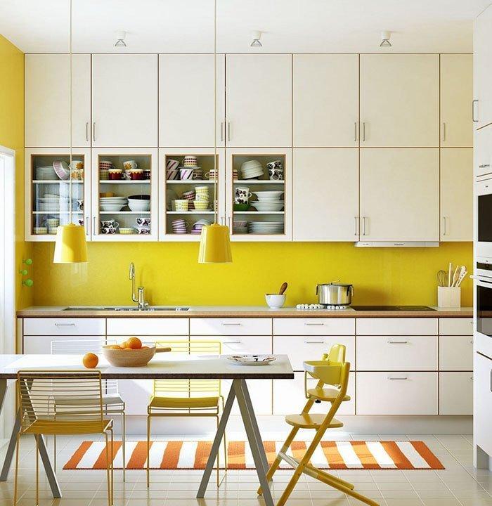 Mẫu không gian bếp đẹp với những điểm nhấn vui tươi