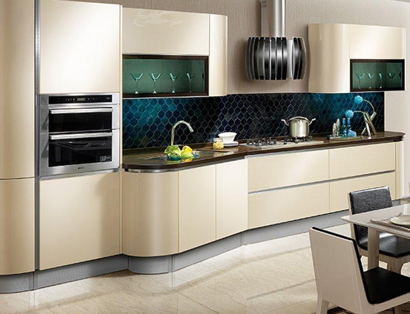 Căn bếp sang trọng, hiện đại dành cho không gian nhà ống
