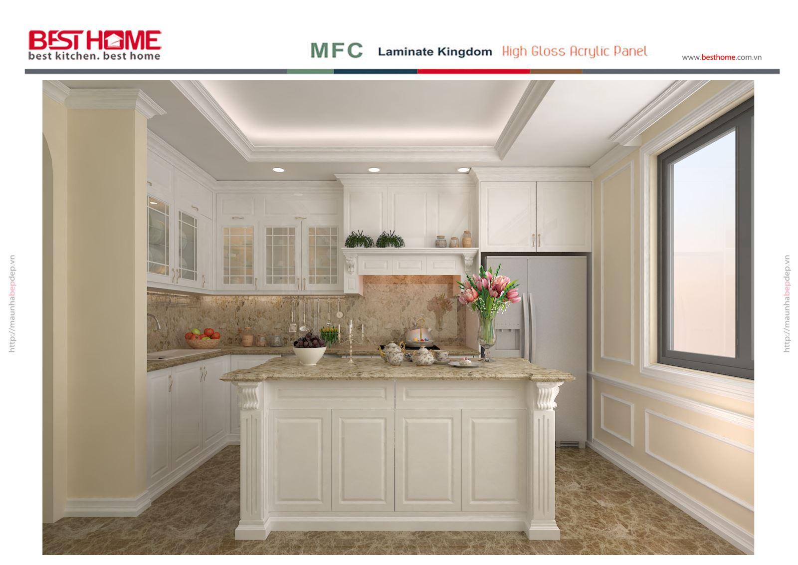 Tủ bếp gỗ sồi Mỹ sơn trắng – Tri ân khách hàng và bảo trì công trình tủ bếp nhà chị Hương thumbnail
