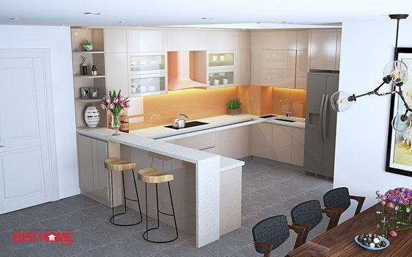 Không gian bếp độc đáo nhà chị Hạnh – La Phù – Hoài Đức thumbnail