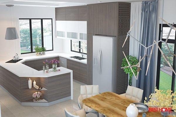 Phong cách tủ bếp hiện đại với chất liệu Laminate tại biệt thự nhà MR. Khánh – Ecopark thumbnail