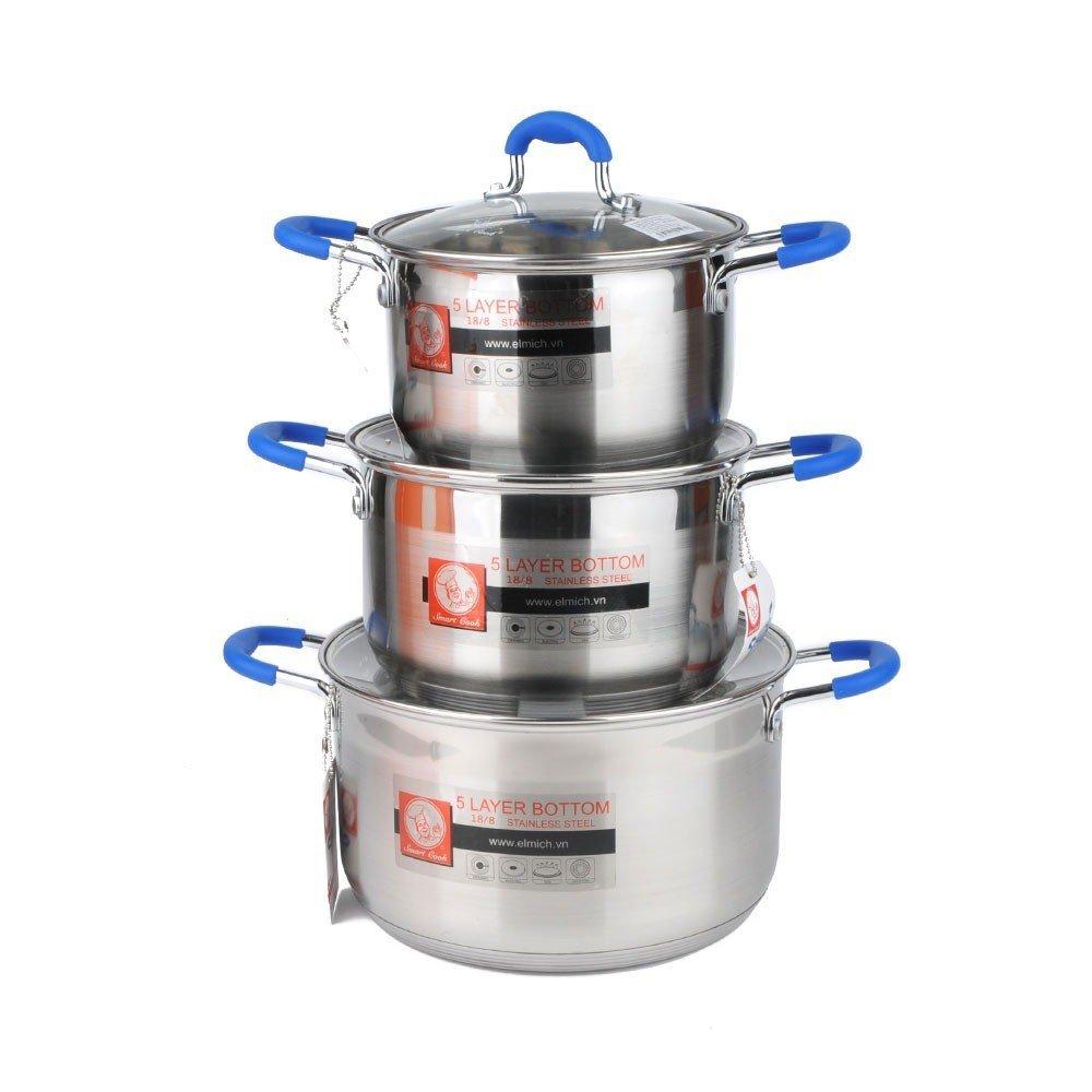 Hãng Elmich còn cung cấp ra thị trường nhiều mẫu nồi nấu bếp từ đơn, chảo nấu bếp từ với mẫu mã, giá thành đa dạng phù hợp với từng nhu cầu cụ thể