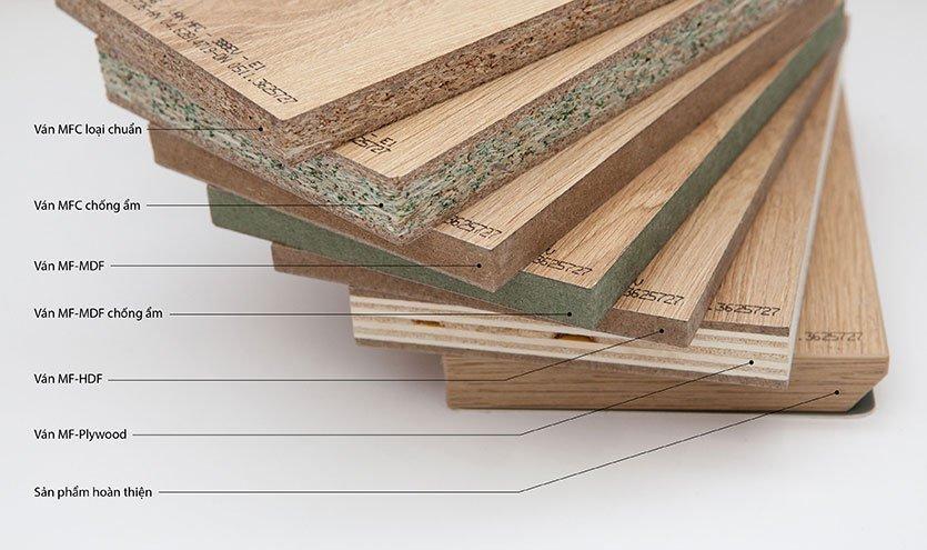 Các loại ván gỗ khác nhau