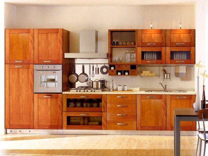 Tủ bếp gỗ thiết kế theo phong cách cổ điển