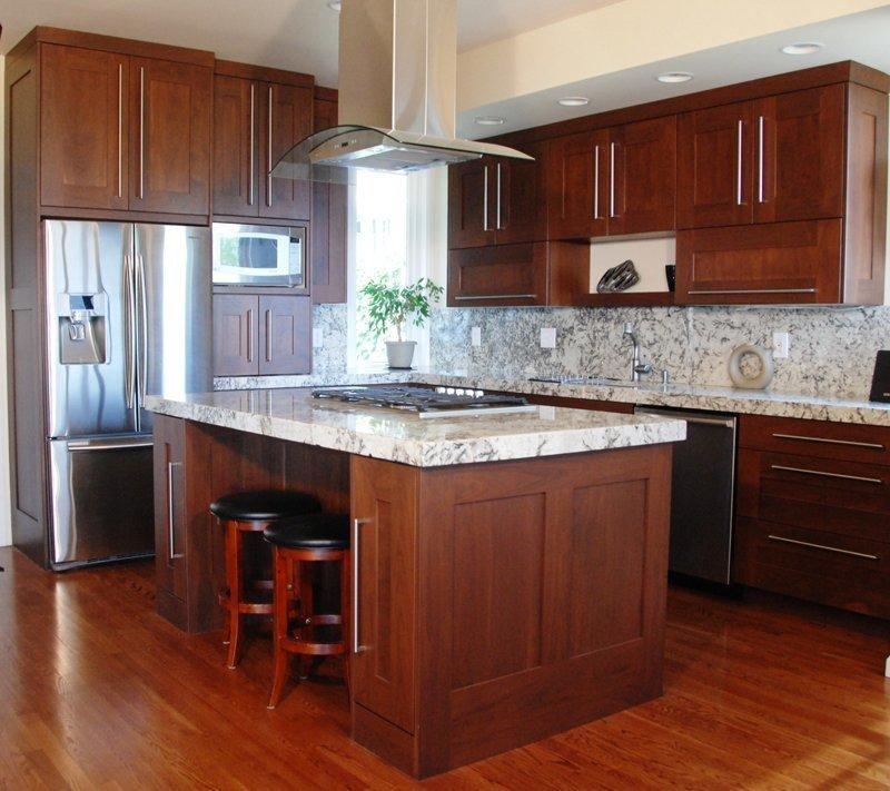 Tủ bếp gỗ thiết kế theo phong cách hiện đại