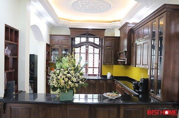 Không gian bếp nhà Mrs Bích – Pháp Vân – Phong cách không gian bếp mở hạng sang cho nhà biệt thự thumbnail