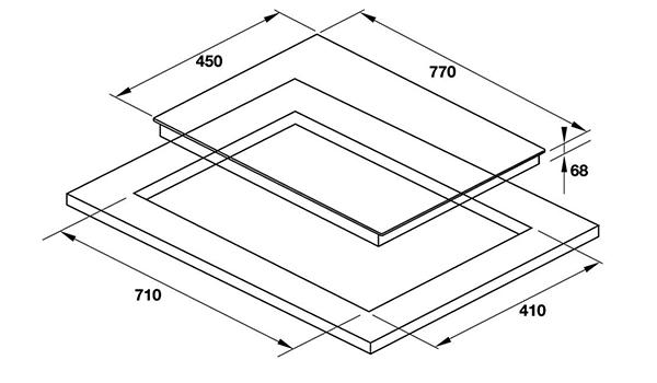 Kích thước Bếp từ kết hợp điện Hafele HC-M772B