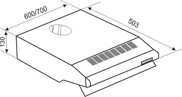 Kích thước Máy hút khử mùi Faster FS-0860S công nghệ tiên tiến