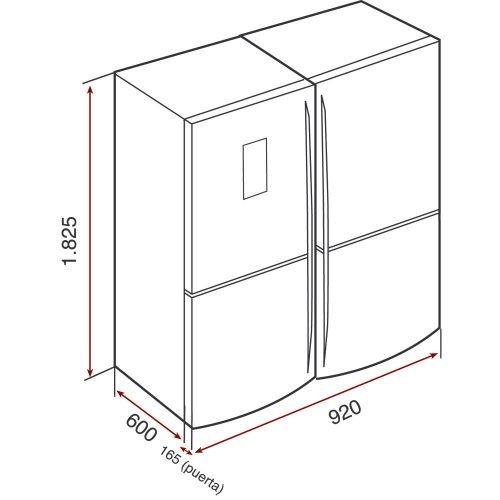 Kích thước tủ lạnh Side By Side Teka NFE900X