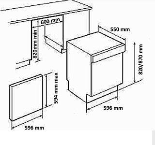 Máy rửa chén âm tủ Hafele HDW-HI60B 533.23.210 - Thông số kỹ thuật