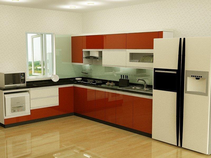Tủ bếp gỗ nhựa (bản thiết kế)
