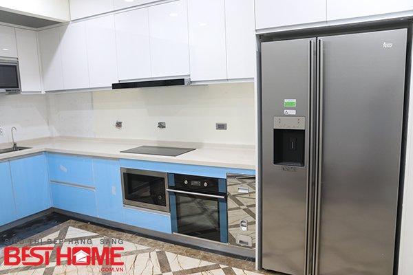 Tủ bếp gỗ Acrylic – Hoàn thiện công trình tủ bếp nhà anh Thạch – Lê Trọng Tấn thumbnail