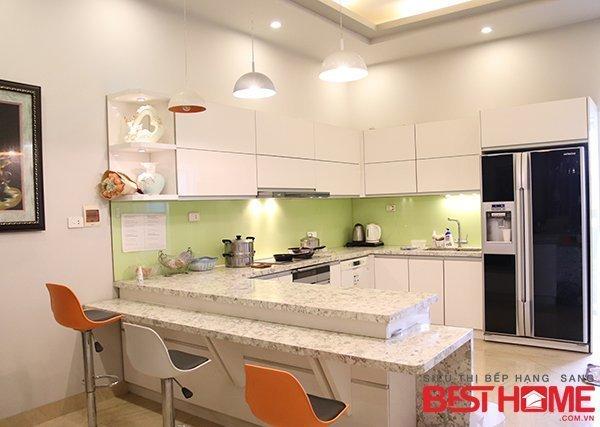 Tủ bếp gỗ Acrylic – Tri ân khách hàng và bảo trì công trình tủ bếp nhà anh Tuấn – Phú Thọ thumbnail