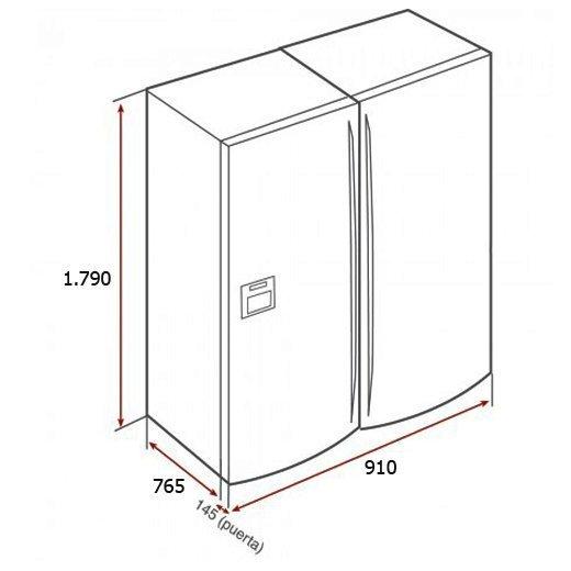 Kích thước tủ lạnh Side By Side Teka NF3 620X