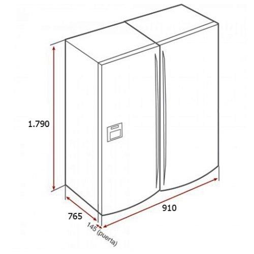 Kích thước tủ lạnh Side By Side Teka NF3 650X