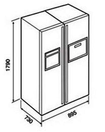 Kích thước tủ lạnh Side By Side Teka NFD 680 BLACK