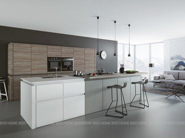 Mẫu tủ bếp đơn giản đẹp và hiện đại