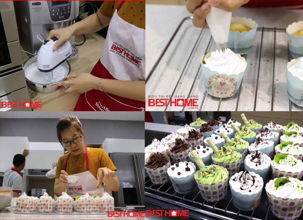 Bánh cupcake được trang trí nhiều hình tùy thích