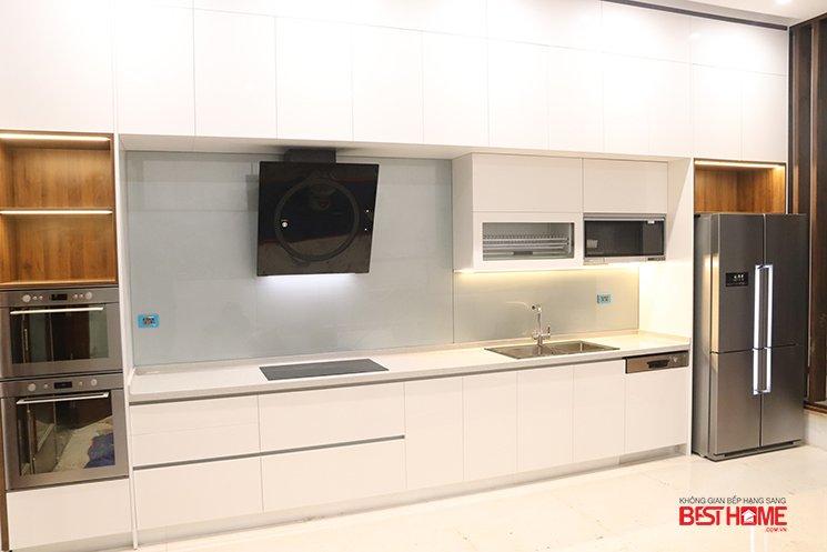 Tủ bếp gỗ Acrylic – Hoàn thiện công trình tủ bếp nhà Mrs. Tuyết – Phan Đình Phùng – Hà Nội thumbnail