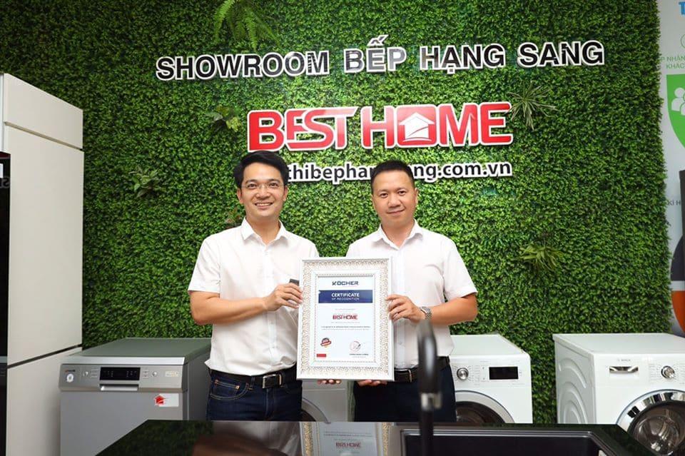 Showroom bếp hạng sang besthome cam kết cung cấp thiết bị bếp bosch chính hãng