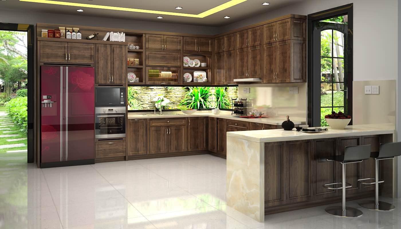 Tận dụng tối đa không gian phòng bếp