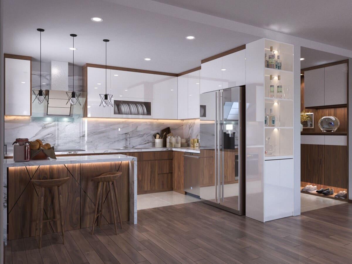 Phù hợp với không gian phòng bếp có diện tích hạn chế