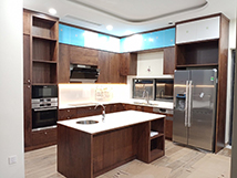 Tủ gỗ Óc Chó kết hợp Acrylic màu trắng – Hoàn thiện công trình phong cách hiện đại nhà Mr Khang – Biệt thự song lập IRIS Gamuda thumbnail