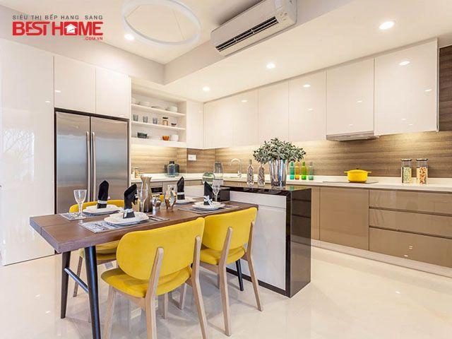 40  mẫu thiết kế không gian bếp hiện đại và đẹp năm 2021