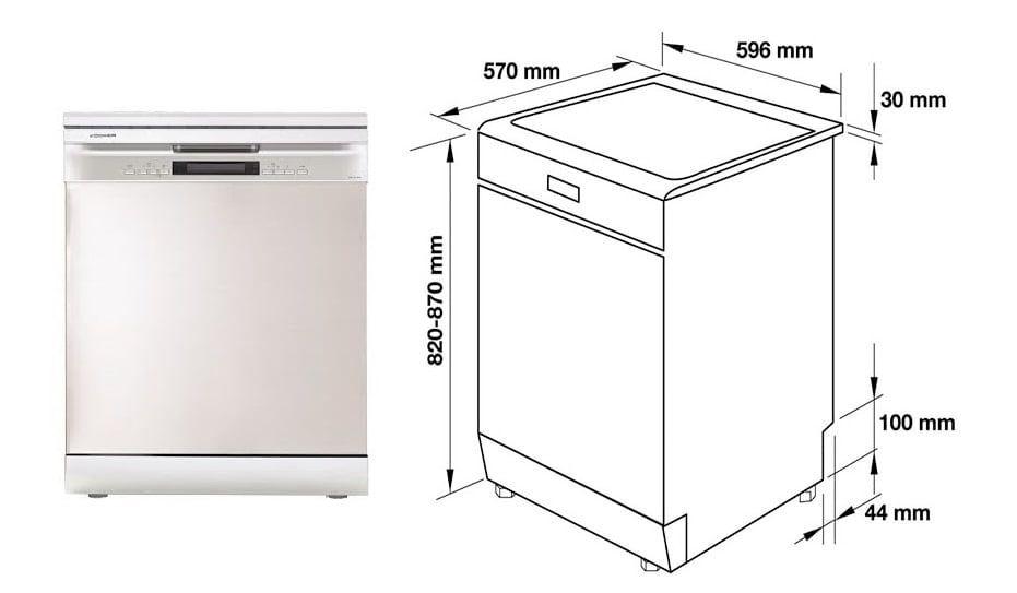 Chú ý : Nên tìm hiểu trước về kích thước máy rửa bát phù hợp  để không hối hận sau này