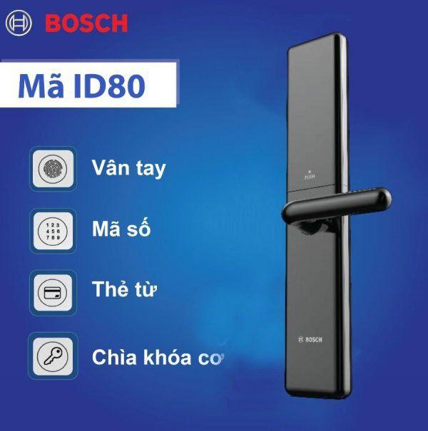 Khóa cửa điện tử vân tay BOSCH ID80 - bán tự động