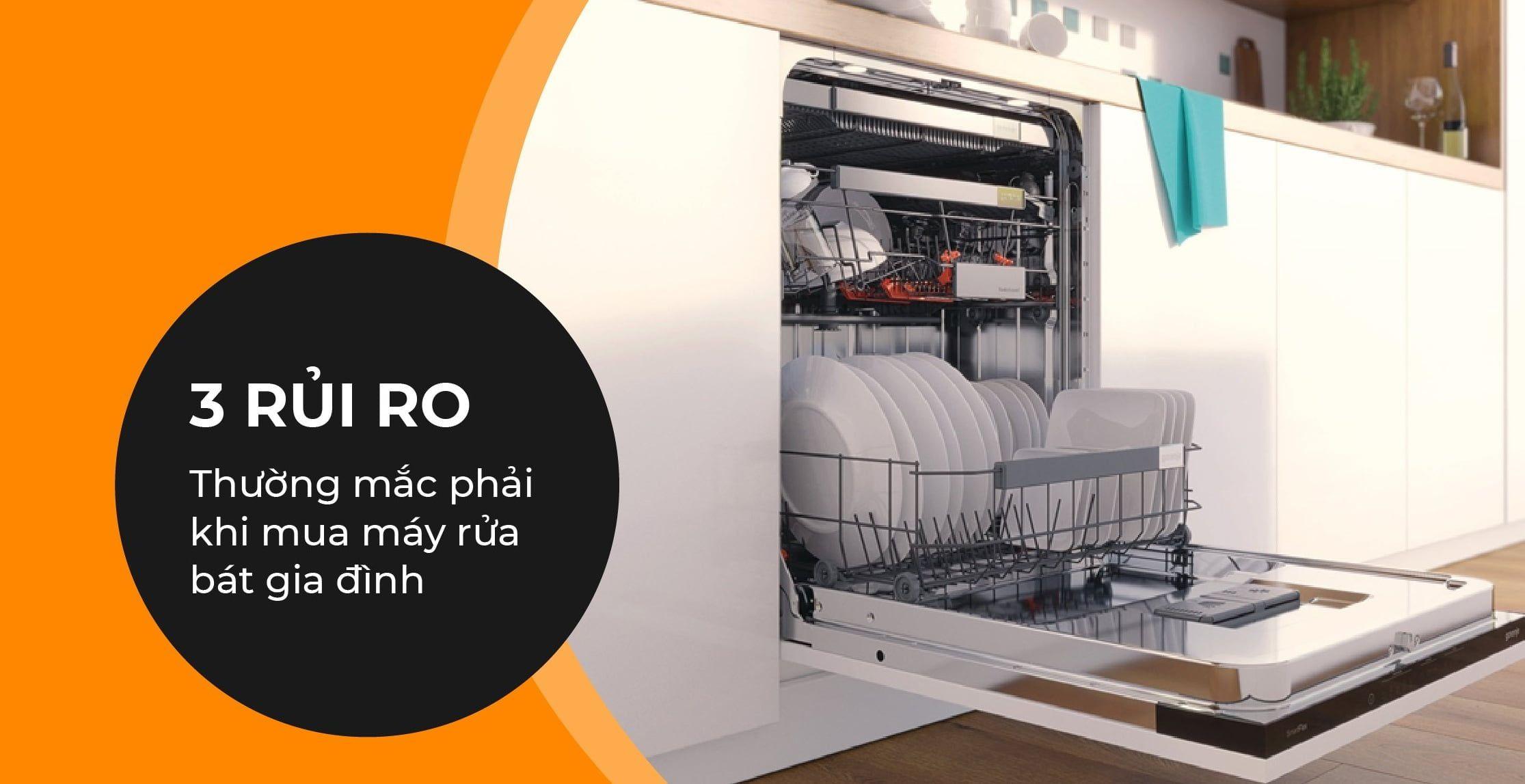 3 RỦI RO thường mắc phải khi mua máy rửa bát gia đình thumbnail