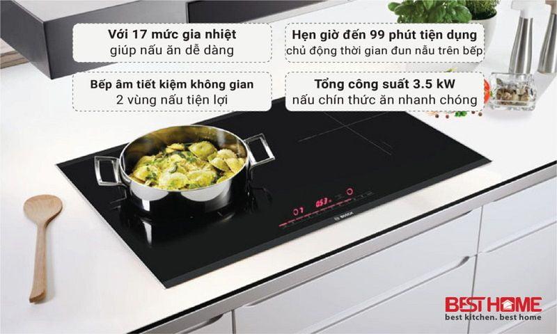 Bếp từ 2 vùng nấu Bosch HMH.PPI82560MS