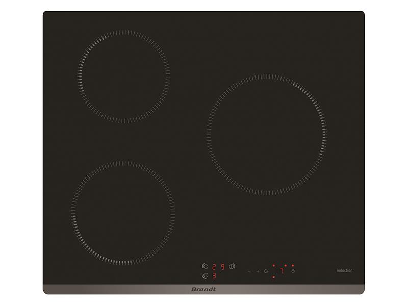 Bếp từ 3 bếp Brandt BPI6309B black nhập nguyên chiếc tại Pháp