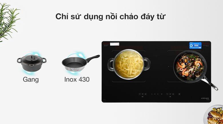 Bếp từ 2 bếp KOCHER DI-633 lắp ráp Việt Nam