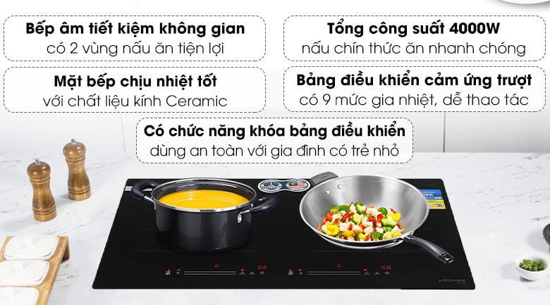 Bếp từ 2 bếp KOCHER DI-669 xuất xứ Malaysia