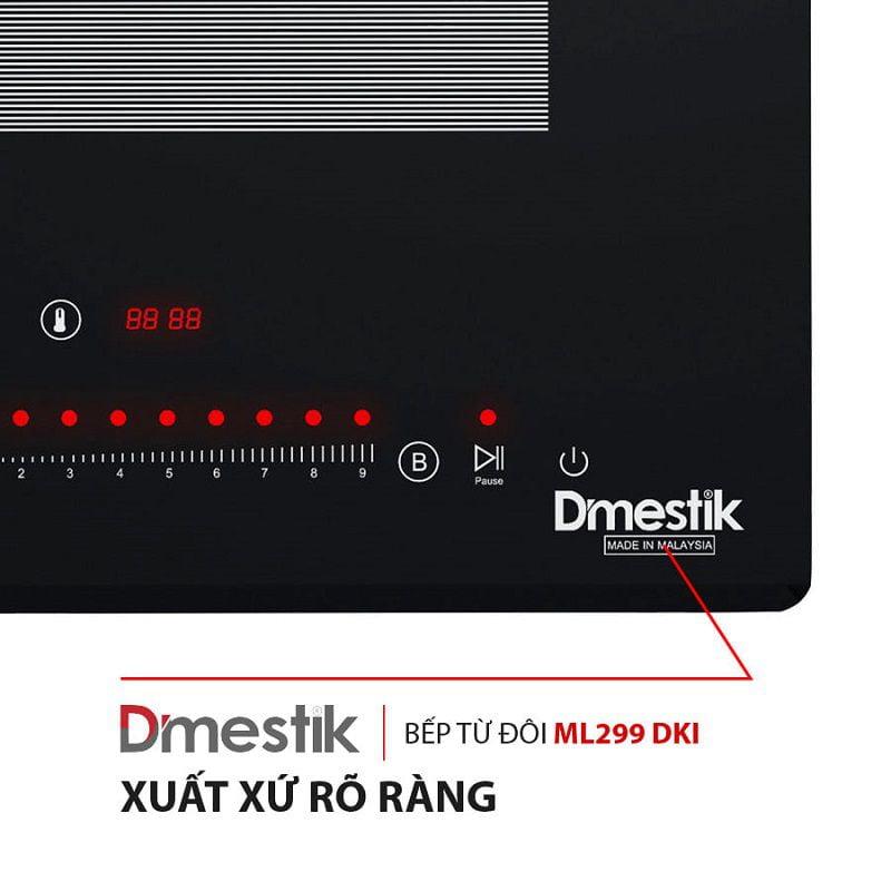 Bếp từ 2 vùng nấu DMESTIK ML299 DKI xuất xứ Malaysia