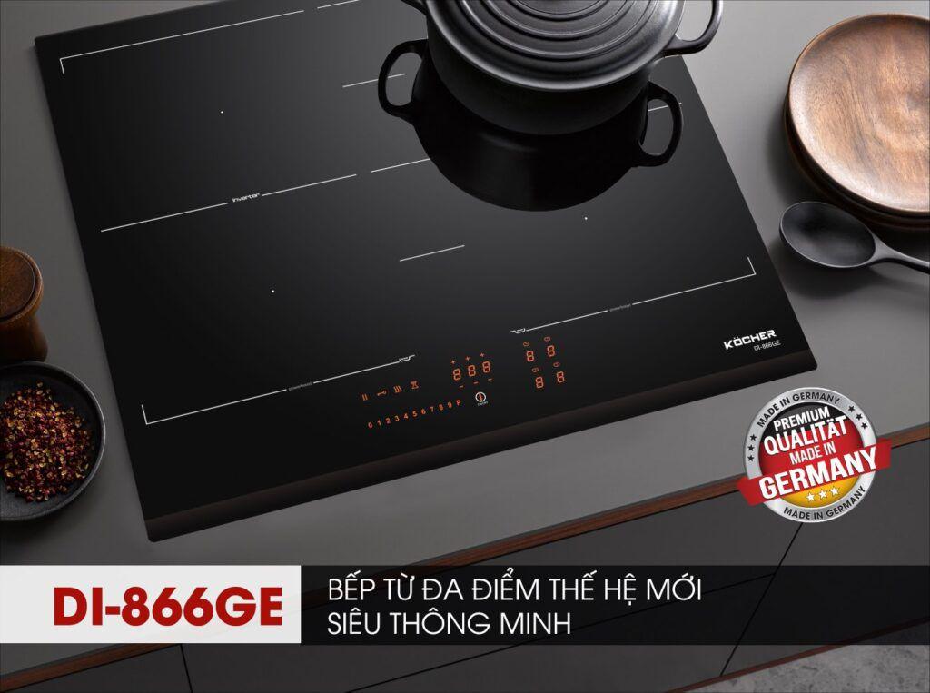 Bếp từ đa điểm KOCHER thế hệ mới DI-866GE nhập khẩu Đức