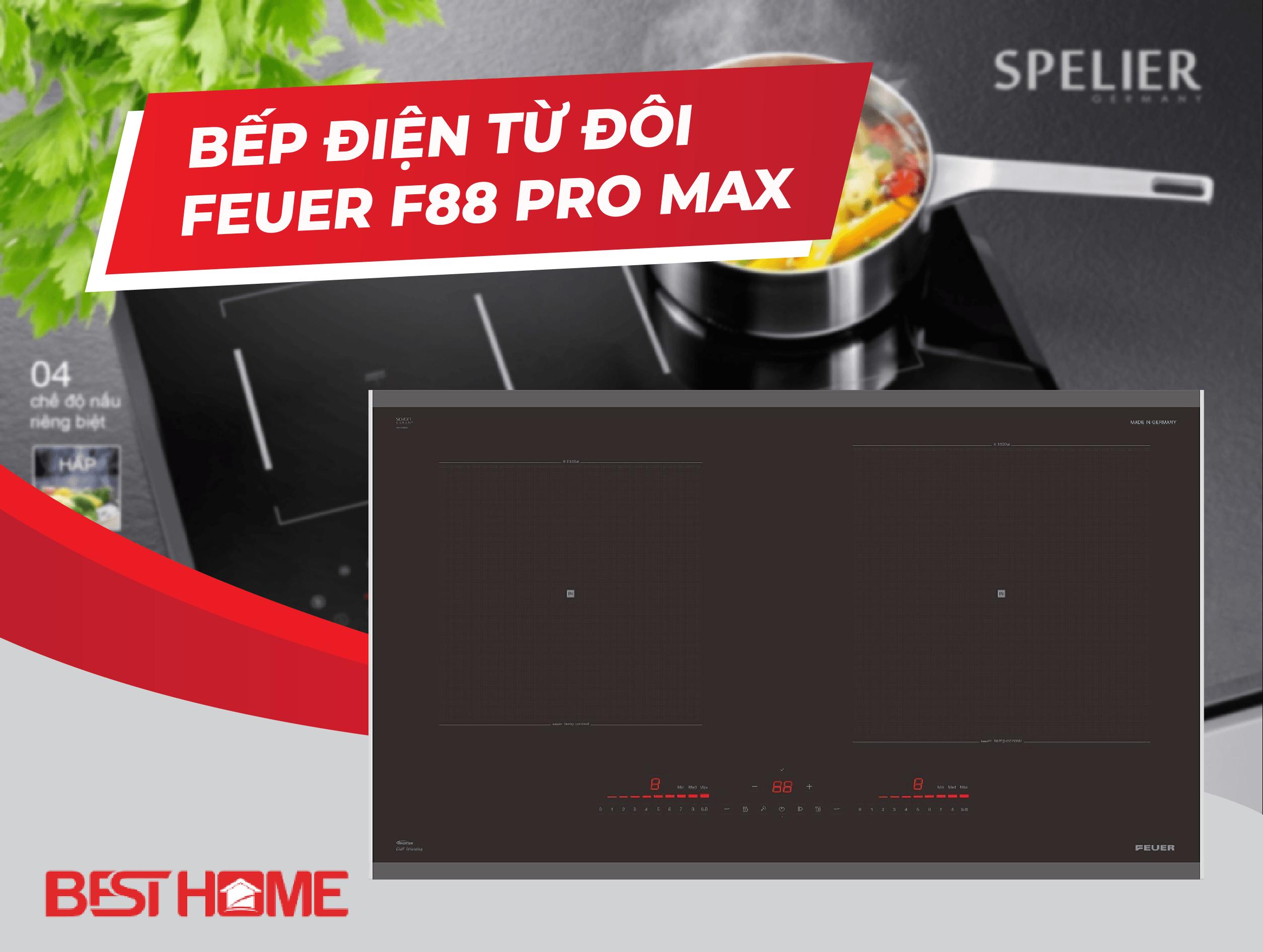 Bếp điện từ đôi FEUER F88 Pro Max xuất xứ Đức – bếp 5 sao
