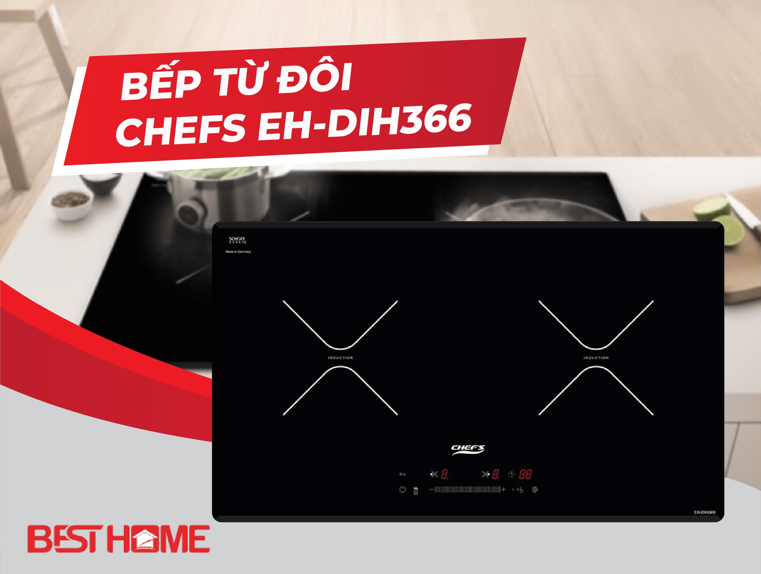 Sản phẩm Bếp từ đôi Chefs EH-DIH366 – bếp 5 sao