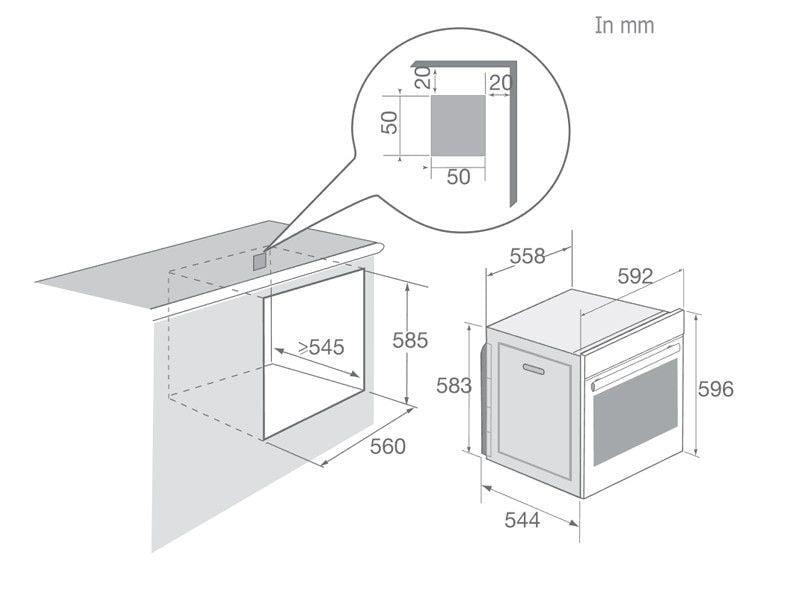 Lò nướng âm tủ Brandt BXC6537XS- sản xuất tại Pháp