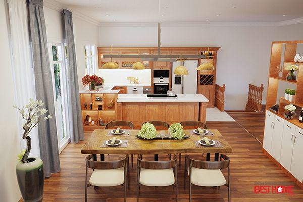 Không gian bếp nhà Ms.Tươi – Vinhomes Riverside – Phong cách bếp hạng sang cho nhà biệt thự post image