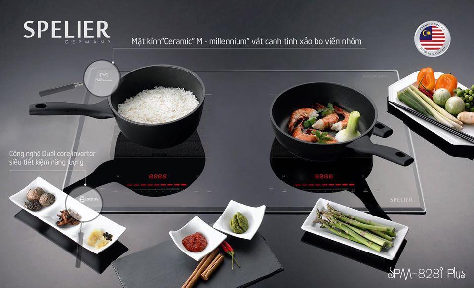 Bếp từ 2 vùng nấu SPELIER SPM-828I Plus