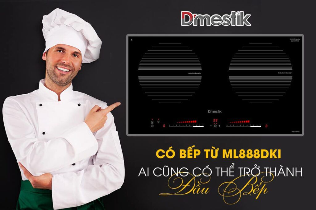 Bếp từ 2 vùng nấu DMESTIK ML888 DKI xuất xứ Malaysia