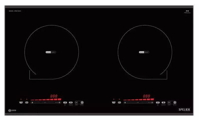 Bếp từ 2 vùng nấu SPELIER SPM-730K xuất xứ Malaysia