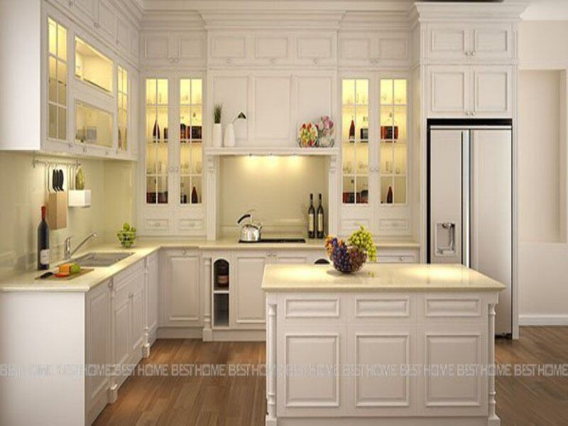 Xu hướng mẫu thiết kế không gian bếp đẹp cho phòng bếp hiện đại năm 2021