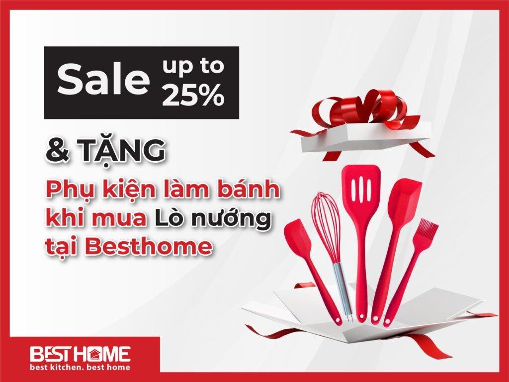 Sale up to 25% & tặng Phụ kiện làm bánh khi mua Lò nướng tại Besthome