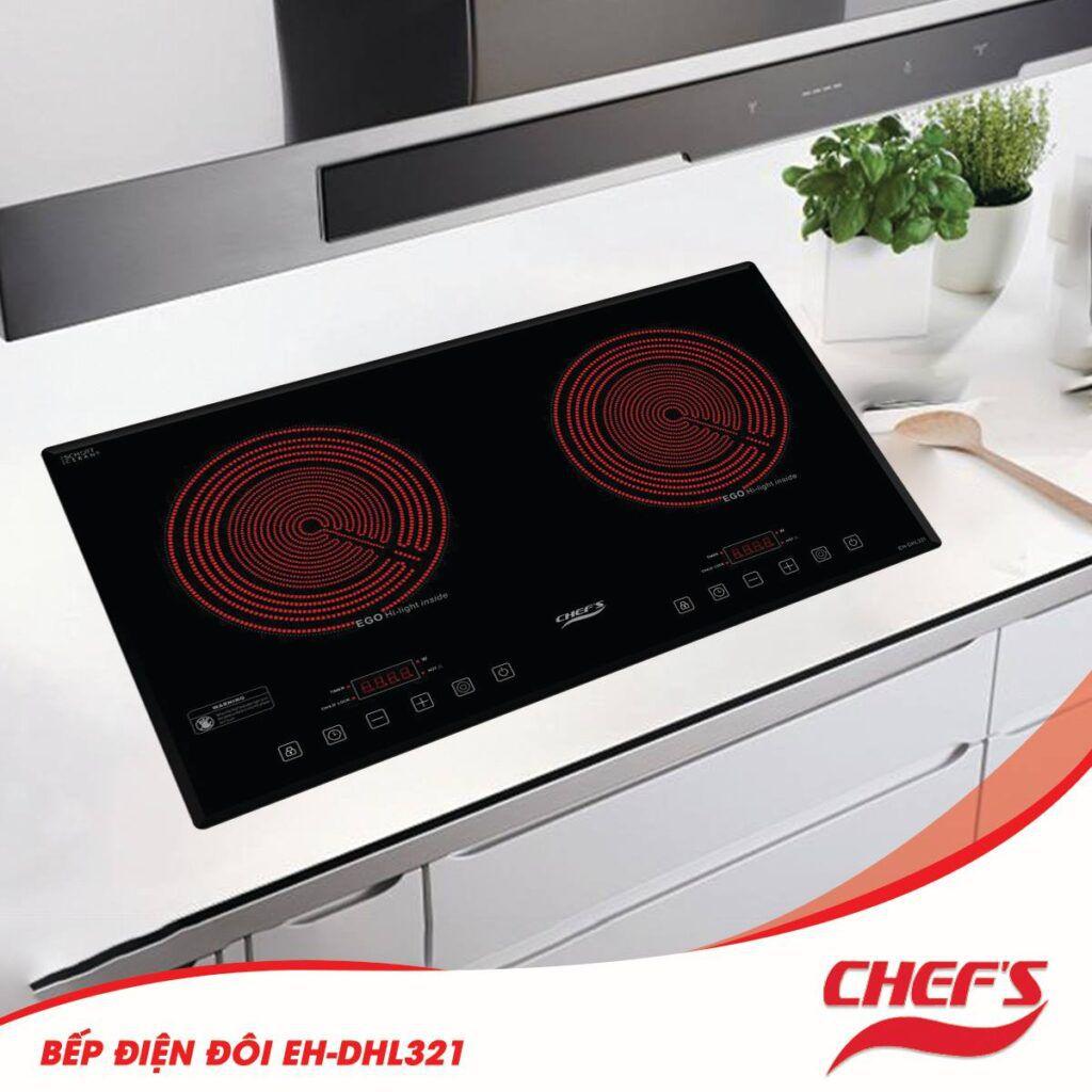 Bếp hồng ngoại đôi CHEFS EH-DHL321 xuất xứ Việt Nam
