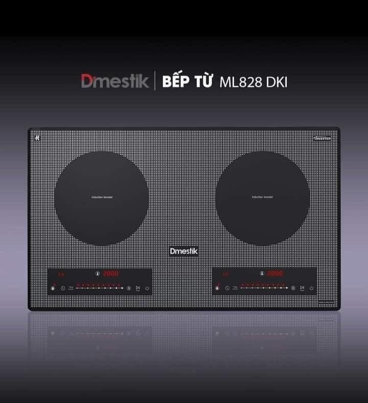 Bếp từ 2 vùng nấu DMESTIK ML828 DKI xuất xứ Malaysia